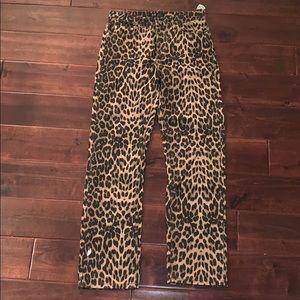 Zara Straight Leg Cheetah Jeans
